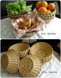 Плетеные корзинки круглые