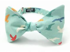 Beach Blue Seagull Bow Tie by SpeicherTieCompany on Etsy, $25.00
