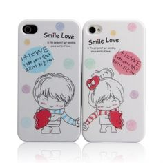 Lovers Protective PVC Cases For iPhone 4
