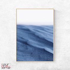 Desert Sand Printable Wall Art, Indigo Color Poster Download, Nordic Minimalist Interior Decor, Modern Scandinavian Print, Large Wall Art