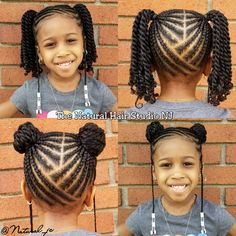 Natural Hairstyles for Little Black Girls Choosing styles that are cute and fun can help your little girl learn to love her natural hair. Here are 35 cute natural hairstyles for little Black girls. Little Girl Braid Styles, Kid Braid Styles, Little Girl Braids, Braids For Kids, Girls Braids, Braids For Black Kids, Cornrows For Girls, Toddler Braids, Kid Braids