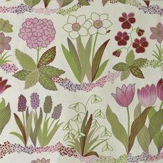 Vårblommor fabric from Boel (scandinaviandesign)