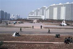 Area residencial, Pyongyang. 1981