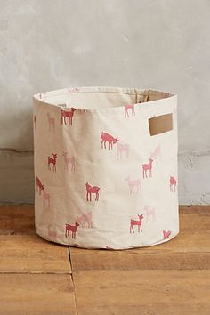 frollicking fawn canvas bin #anthrofave #homedecor
