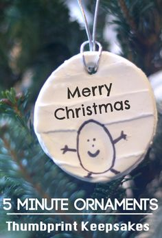 5 minute ornaments for Christmas crafts with kids