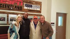 Chef Jim with the crew from WKNR, 850am.