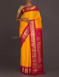 Jaya Blest Of Colors Temple Border #Gadwal #RealZari #SilkSaree