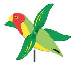 WhirlyGig Love Bird Outdoor Animated Decor by WhirlyGig. $16.99. From the Manufacturer                These colorful wind-animated gizmos have been decorating America's gardens for centuries. Now we have updated the American folk art by taking full advantage of today's finest materials while maintaining all of yesterday's charm. The WhirlyGig is weather-resistant and durable. The colorful design and spinning wings bring personality and hours of enjoyment to lawn,...