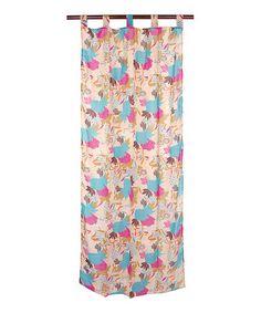 Look at this #zulilyfind! Pink & Turquoise Bird Curtain Panel #zulilyfinds