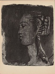Black and White, Pablo Picasso, Portrait of a Woman, Vintage Picasso Art, Original Verve Fine Art, Free Shipping by FunFloridaVintage on Etsy