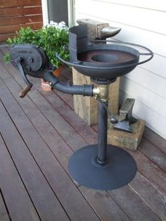 Homemade Coal Forge, I might need this to make hook tools for bowl turning