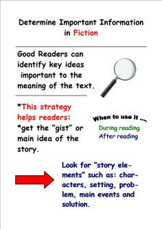 Determining Important Information in Fiction