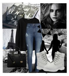 """""""Untitled #388"""" by kingbella on Polyvore featuring H&M, MICHAEL Michael Kors and Timberland"""