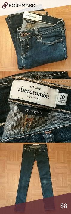 "GIRLS Abercrombie jeans Girls size 10 abercrombie ""cute stretch"" skinny jeans Abercombie Kids Bottoms Jeans"