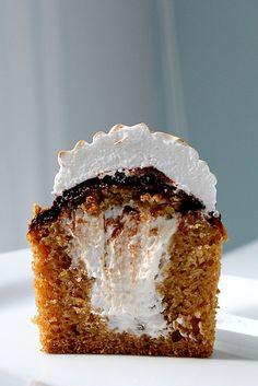 S'more Cupcakes #cupcake #recipe