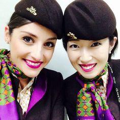 Etihad Airways Stewardess Crewfie @panam84 | Etihad Beauties...