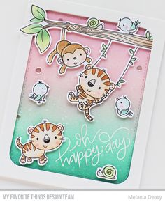 Hi all! I'm back with a card for My Favorite Things June Release Countdown Day 2. I play with cute stamp set called Jungle Gym and Fierce ...