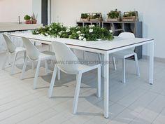 Tavolo da giardino in alluminio