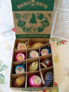 1950's Shiney Brite Christmas Ornaments
