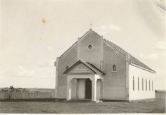 Construção da capela menonita do Boqueirão.