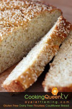 Gluten Free Dairy Free Flourless Cauliflower Bread