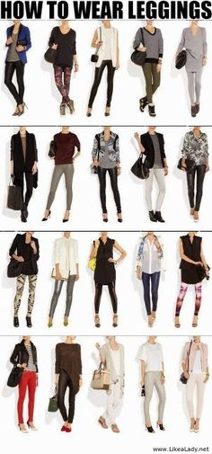 Interesting and Stylish Combinations - Leggings with Suitable Shoes,Handbags and Clothes by hadili
