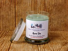 Scented candles, Green Tea Www.etsy.com/shop/BigWhifCandleCo