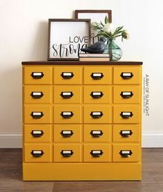 Get creative with this faux catalog dresser makeover DIY project. Youll love th Dresser Makeovers Catalog Creative DIY Dresser faux love Makeover Project Youll Diy Makeover, Furniture Makeover, Staining Wood, Dressers Makeover, Diy Dresser, Classy Wallpaper, Diy Dresser Makeover, Card Catalog Cabinet, Farmhouse Furniture