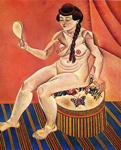 Nude with Mirror - Joan Miro