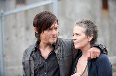 """Norman Reedus as Daryl Dixon and Melissa McBride as Carol Peletier in the Season 4 premiere of """"The Walking Dead"""" on Oct. Description from mainlinemedianews.com. I searched for this on bing.com/images"""