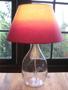 Ombre lamp shade with hair dye. Love it. (Not sure if I like ombre or not?)