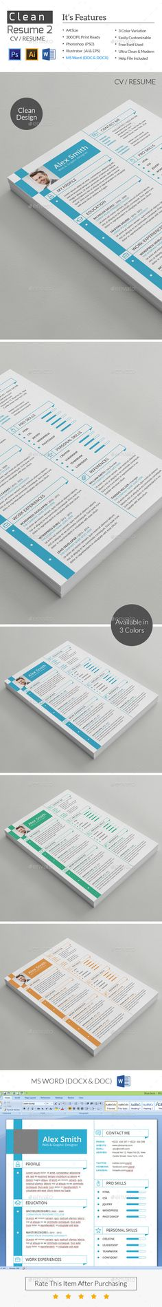 Slick + Simple Resume with Cover Letter Simple resume - easy simple resume template