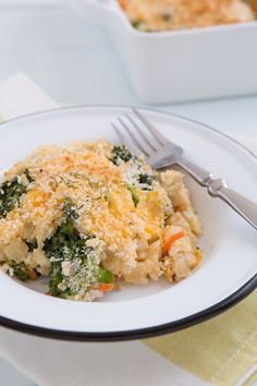 Broccoli Cheddar Brown Rice Casserole from @Oh My Veggies