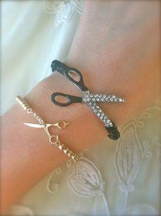 Shear Love II Bracelets by pscharmcandy on Etsy, $12.00