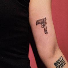 gun tattoos | Tumblr