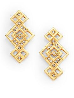CA&LOU Crystal Pyramid Drop Earrings