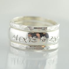 Hey, I found this really awesome Etsy listing at https://www.etsy.com/listing/160037901/stackable-mothers-ring-sterling-silver