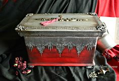 victorian vintage jewelry box by Adisa Lisovac Decoupage