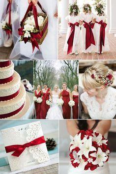 paleta de cores para casamento no Natal branco, verde e vermelho