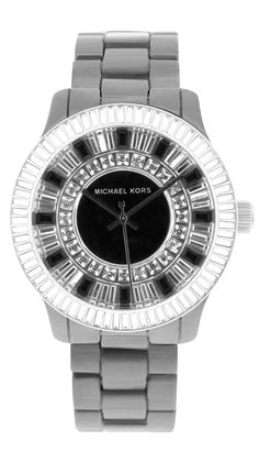 Michael Kors Womens Baguette Crystal Watch