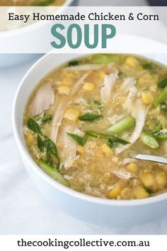 Faster than ordering from your favourite Chinese takeaway, this comforting and delicious chicken and sweetcorn soup (also known as egg drop soup) can be on your table in less than 15 minutes. Simple and affordable, you can now enjoy this easy soup at home, any time! Perfect as a complete meal, or as part of a homemade Asian style banquet.