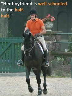 Stuff George Says - lol! Trail Riding Horses, Horse Riding Tips, Horse Tips, Equestrian Quotes, Equestrian Problems, George Morris Quotes, Funny Horses, Dressage Horses, English Riding