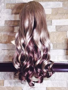 Noelle // Dirty blonde to brunette Ombre Full Synthetic by LuxLoxs