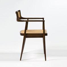 Joaquim Tenreiro, Roxhino Wood and Cane Armchair, 1960.