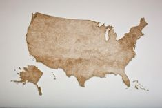 United States Map Made from Thousands of Wood Matches by Claire Fontaine