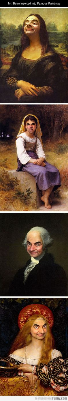Mr. Bean Inserted Into Famous Paintings... http://ibeebz.com