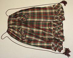 Mid 19th century, American or European silk apron.  Metropolitan Museum of Art