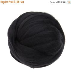 SALE 16 Micron Merino wool Roving Luxury Fiber for felters and spinner (Blackboard)