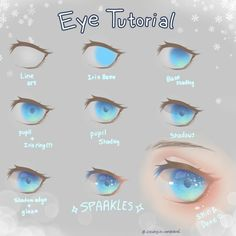 63 New Ideas Drawing Tutorial Anime Eyes - 63 New Ideas Drawing Tutorial Anime Eyes - Eye Drawing Tutorials, Digital Painting Tutorials, Digital Art Tutorial, Drawing Techniques, Drawing Tips, Art Tutorials, Drawing Hair Tutorial, Concept Art Tutorial, Digital Paintings
