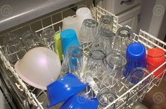 Homemade dishwashing detergent.  Equal parts baking soda and borax.  It's that easy! No harsh chemicals and saves money =)